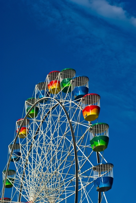 A Colourful Ferris Wheel at Luna Park, Sydney